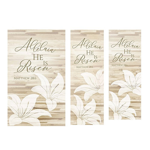 Alleluia Lily Banner