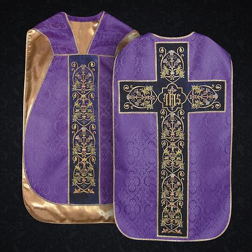 Roman Chasuble Fiddelback 5pcs Mass Set
