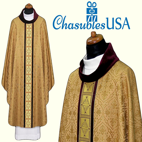 Vestment Woven Collar Priest Pastor Chasuble