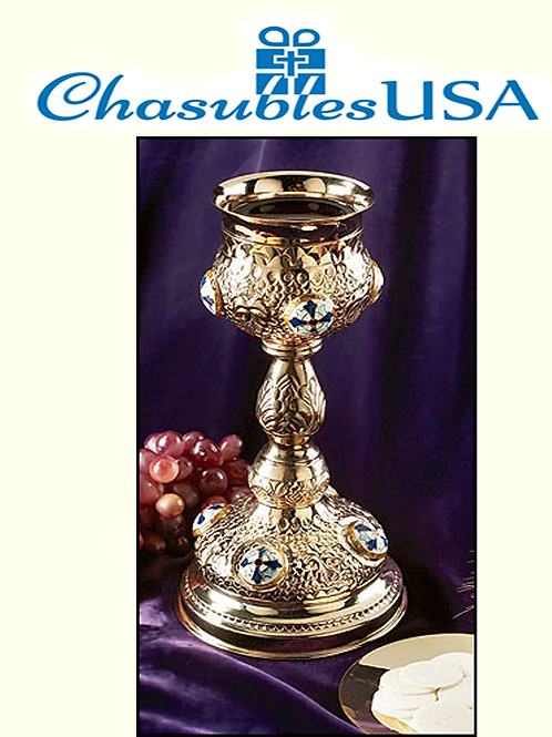 Ornate Cross Chalice with Paten
