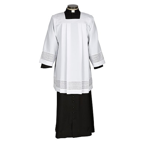 Augustinian Collection Eyelet Embroidery Surplice