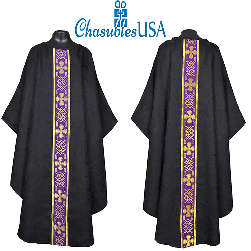 Black Gothic Vestment & Mass Set 5pcs