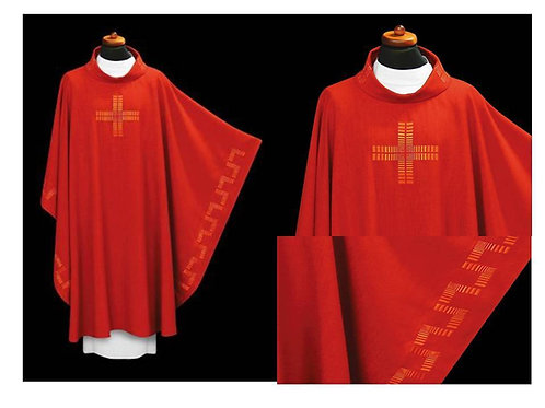 Clergy Vestment with Embroidered Cross