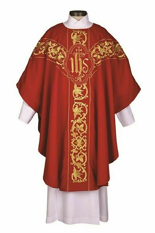 Roma Collection Red Chasuble With Inner Stole
