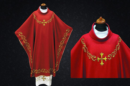 Chasuble made ​​ lightweight Fabric RED Vestment