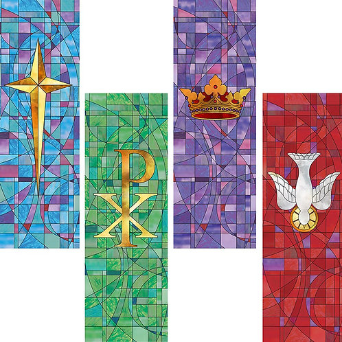 Stained Glass Series X-Stand Banner Set