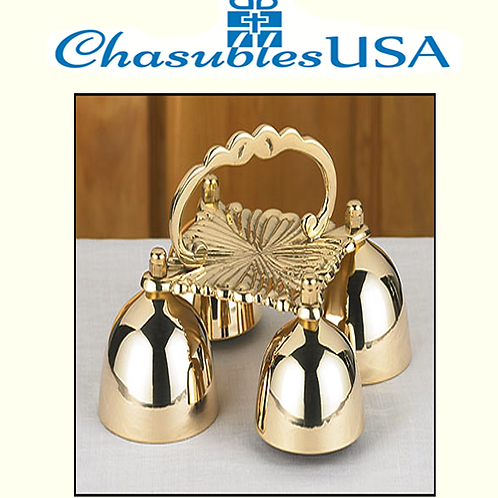 4 Cup Sacristy Bell with Handle