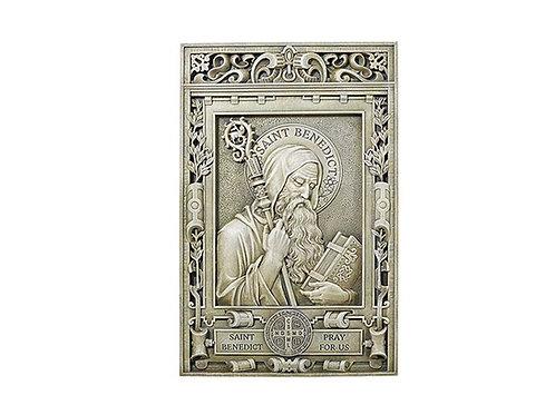 """15"""" Saint Benedict Garden Plaque"""