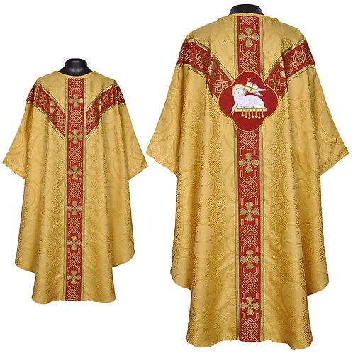 Gold Gothic Vestment & Mass Set Agnus Dei