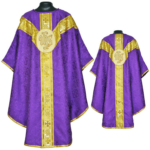 Chasuble Metallic PURPLE Gothic & Mass Set