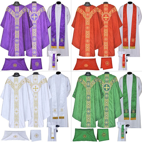 Set of 4 - Vestment & Mass Sets
