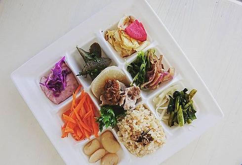 #菜sai _今日の#お弁当 _#お野菜たくさん _#寝かせ玄米ごはん _#有機