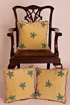 Cream suede cushion