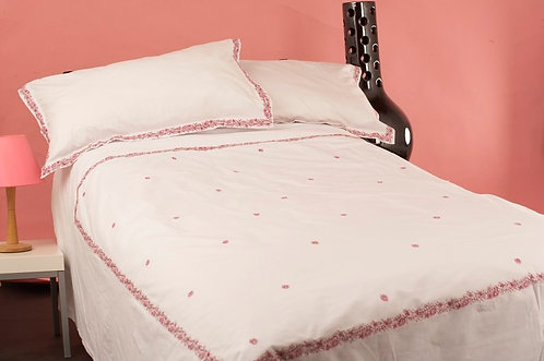 Pink flower pattern  King duvet cover set