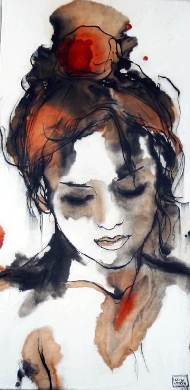 Portrait-Calligraphie-II coll priv