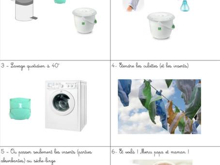 L'entretien des couches lavables