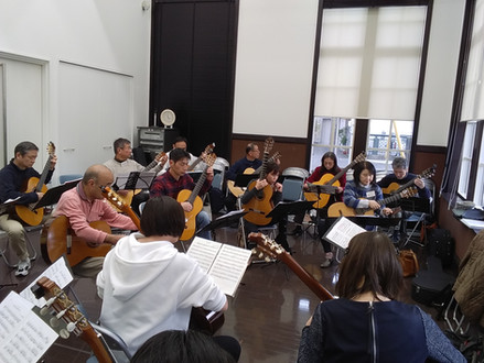 第11回山口ギターフェスティバル合奏練習