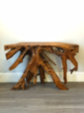 Teak Root Console Table - Raw Finish - 1