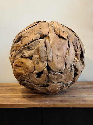 Teak Erosion Ball - 20 in.