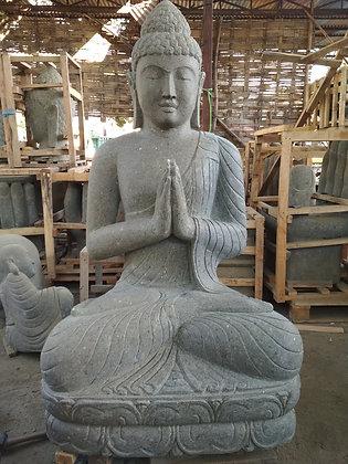 Sitting Buddha - Green Lava Stone - 5 ft
