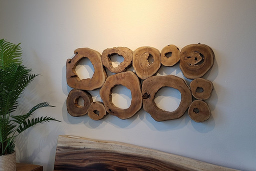 Teak Rings Wall Art