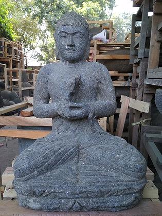 Sitting Buddha - Green Lava Stone - 1.5 ft