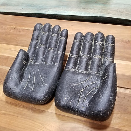 Hands (Pair) - Casted Lava Stone - 16 in.