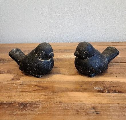 Small Bird - Casted Lava Stone