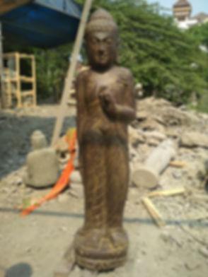 Standing Buddha - 120 cm - Antique - Pra