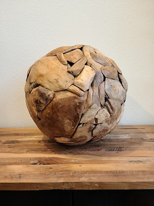 Teak Erosion Ball - 16 in.
