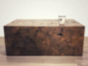 Block Dark Brown Coffee Table - Scale.jp