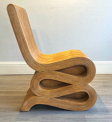 "Natural Rattan ""Snake"" Chair"