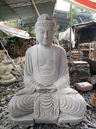 Sitting Japanese Buddha - River Stone - 3.25 ft