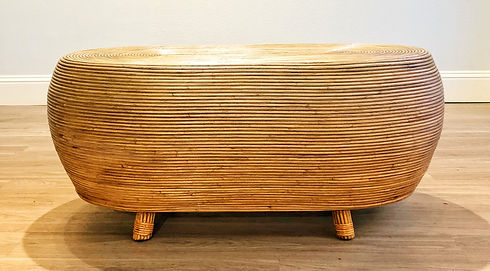 Rattan Coffee Table without Glass - Fron