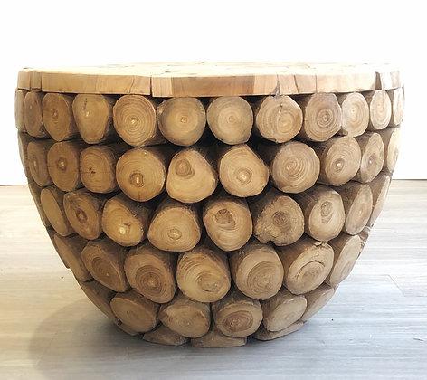 Teak Log Table - Small