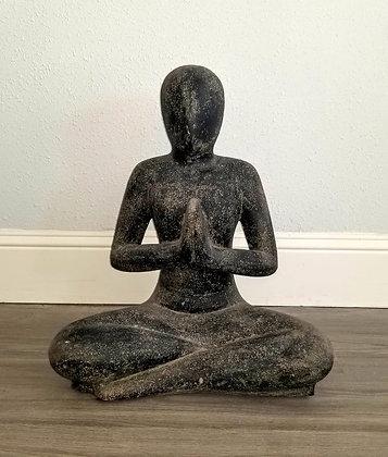 Yoga Pose - Casted Lava Stone - 2.6 ft