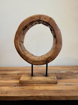 Teak Ring Table Art