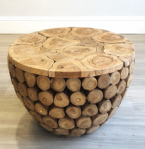 Root Chunks Side or Coffee Table - Top .