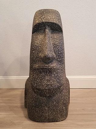 Moai Head - Casted Lava Stone - 3.2 ft