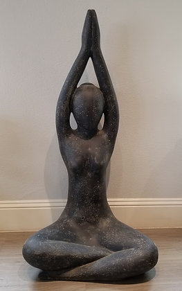 Yoga Pose - Casted Lava Stone - 4 ft