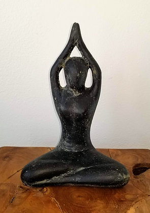 Yoga Pose - Casted Lava Stone- 1 ft