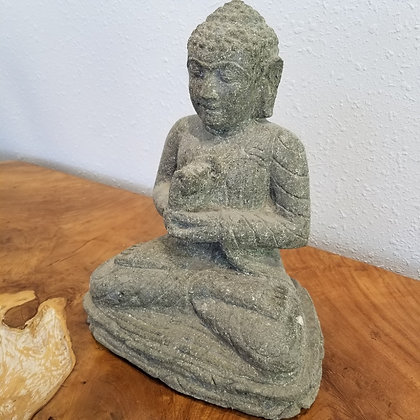 Sitting Buddha - Green Lava Stone - 1 ft