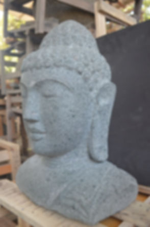 Buddha Bust - 50 cm - Natural5