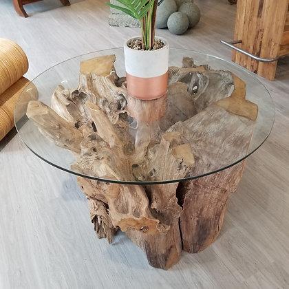 Teak Root Coffee Table - Round