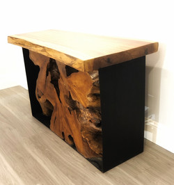 Iron Root Constole Table with Topper - A