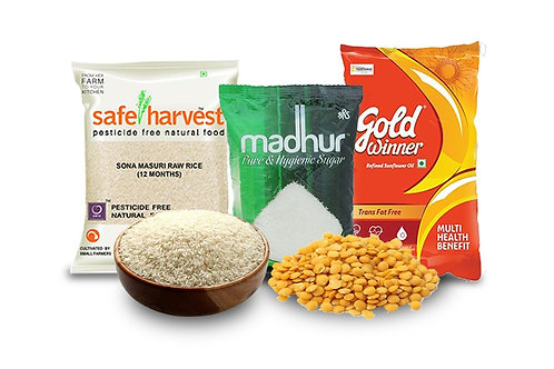 Combo 5 with Ponni Rice & Gold Winner Oil