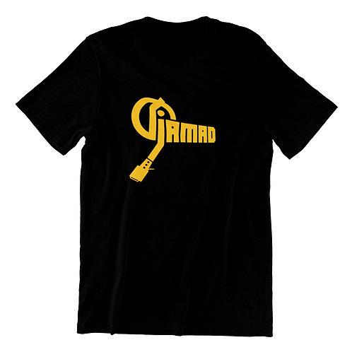 DJ JAMAD Classic Signature Unisex Logo Tee (GOLD)