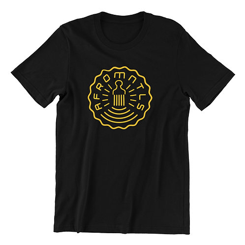 AFROMENTALS Lined Unisex Logo Tee (GOLD)