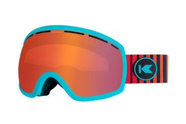 A product shot featuring Knockaround snowboarding goggles on a seamless background