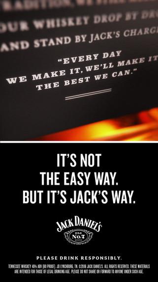 A split screen social media video content created for Jack Daniels